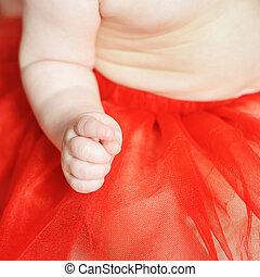 cuten, 手, 生まれる, 赤ん坊, 新しい, 赤