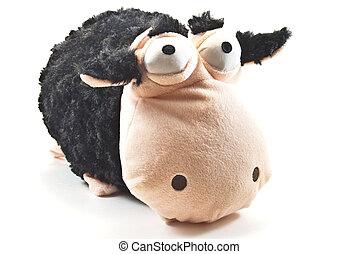 cutie cow doll greeting
