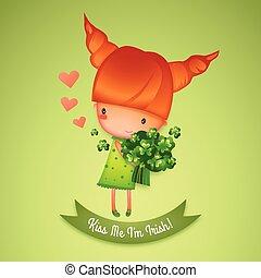 cutie, patrick's, irlandese, sono, giorno, st., me, bacio
