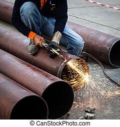 Cuting pipe