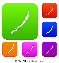 Cutlass set color collection - Cutlass set icon color in...