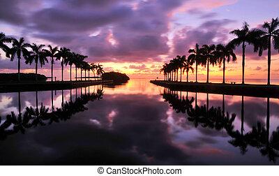 Cutler Sunrise - Sunrise at Cutler Bay south of Miami,...