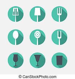 cutlery, アイコン