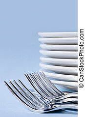 Cutlery and Dinner Plates