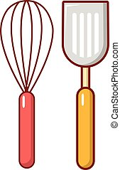 Cutlery bake icon, cartoon style - Cutlery bake icon....
