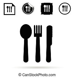 cutlery black vector silhouette