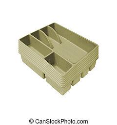 cutlery box isolated