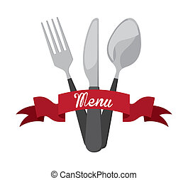 cutlery graphic design , vector illustration