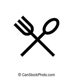 Cutlery icon fork, spoon