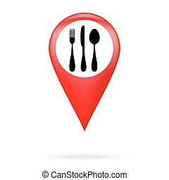 cutlery icon pointer