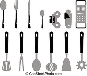 cutlery kitchen - Different types of cutlery for the kitchen...