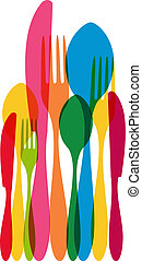 Cutlery pattern illustration