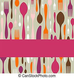 Cutlery pattern invitation