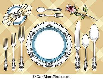 Cutlery set sketch