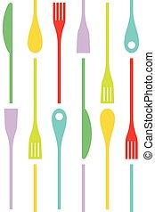 Cutlery Set Vector Seamles