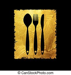 Cutlery Spoon, Fork and Knife Icon Vector Illustration