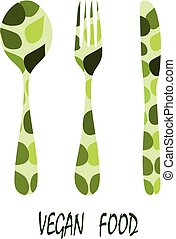 Cutlery: spoon, fork and knife on a white background. vector.