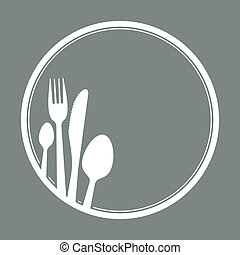 cutlery - spoon, knife and fork as symbol for gastronomy