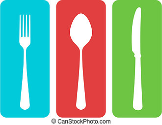 Colorful cutlery vector illustration