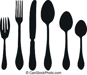 cutlery - Vector - Tableware objects