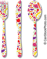 cutlery with pattern