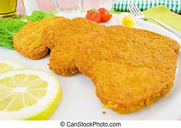 cutlet - breaded chicken dish