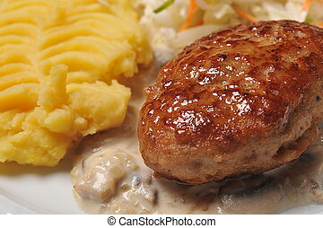 Cutlet with potato - Cutlet in sauce with potato and ...