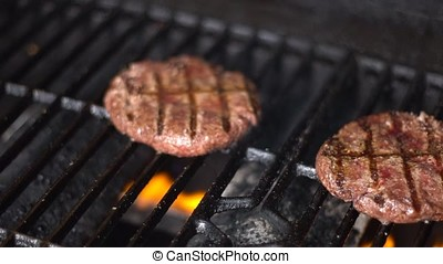 Cutlets from minced meat roasted on the grill-3