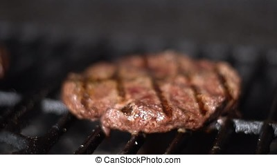 Cutlets from minced meat roasted on the grill.