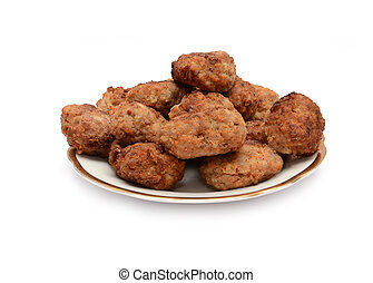 Cutlets on a white background