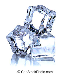 cutout, achtergrond, kubus, vrijstaand, ijs, witte