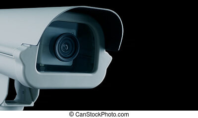 CCTV camera closeup, pre-keyed with alpha channel to add your own photos or video to