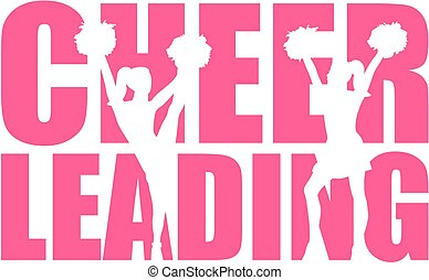 cutout, palavra, cheerleading