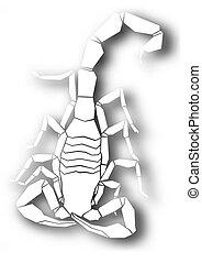 Cutout scorpion design