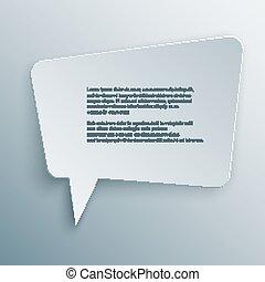 cutout speech bubble vector