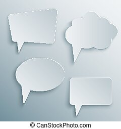 cutout speech bubbles vector