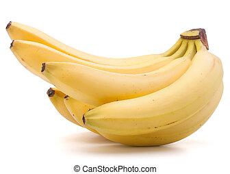 cutout, tło, odizolowany, grono, banany, biały