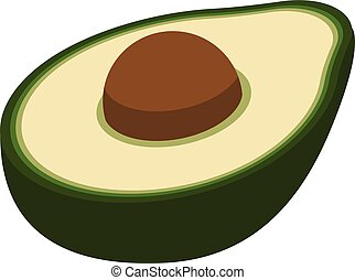 Cutted avocado icon, isometric style
