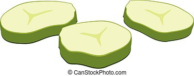 Cutted burger cucumber icon, cartoon style - Cutted burger ...