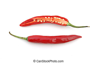 Cutted Red hot chili peppers
