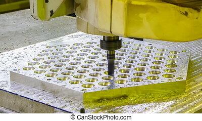 Cutter machine in manufacturing, technological process