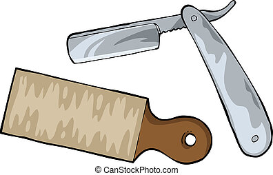 Cutthroat razor on a white background vector illusration
