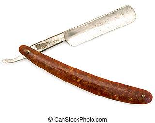 cutthroat razor - old cutthroat razor with open blade...