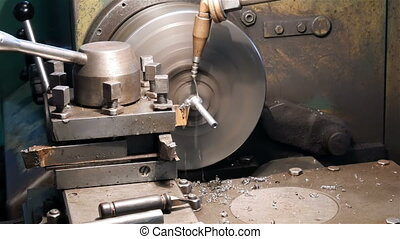 Cutting a part on a lathe