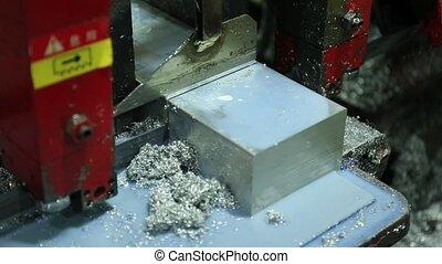 Cutting Aluminum on Bandsaw - Cutting Aluminum Flat Bar on...