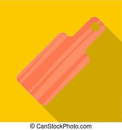 Cutting board icon, flat style