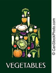 Cutting board icon with healthy vegetables icons