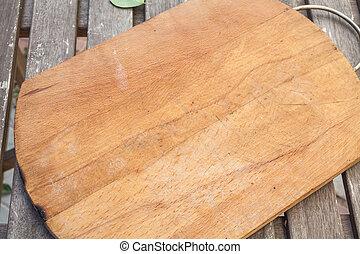 cutting board on table