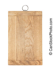 Cutting board - Old wooden cutting board on white background