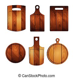 Cutting board set, realistic style